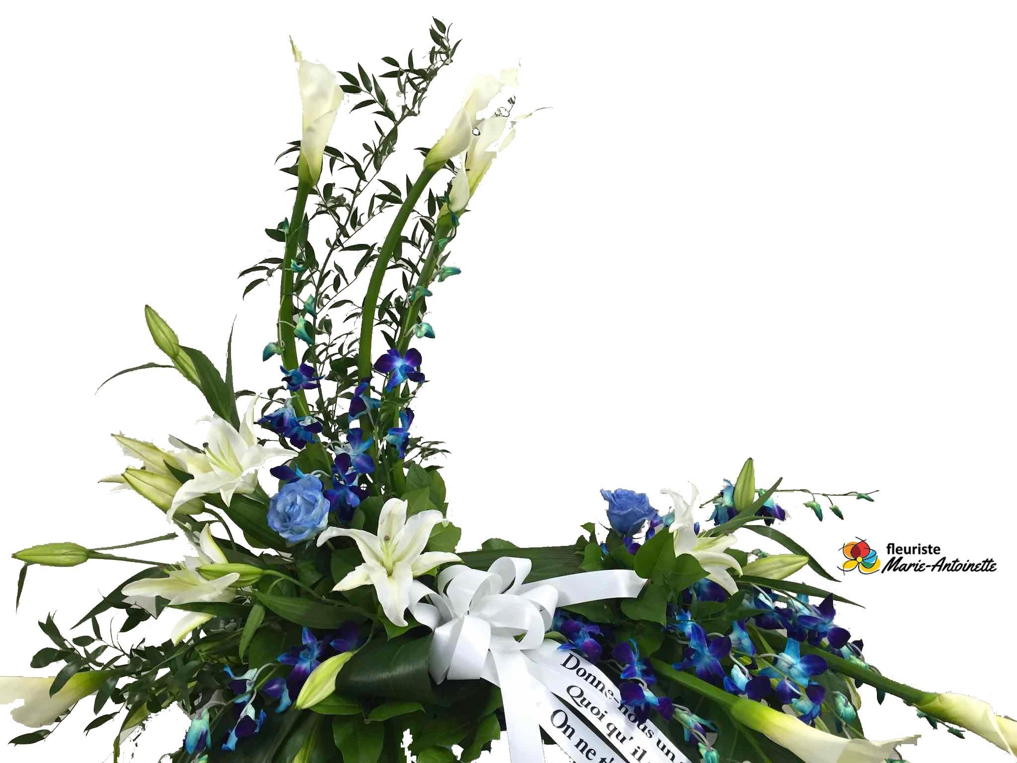 coussin d 39 urne blanc bleu fleuriste marie antoinette. Black Bedroom Furniture Sets. Home Design Ideas