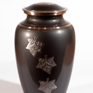 Urne de laiton bronze, or et argent