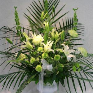Corbeille funéraire classique