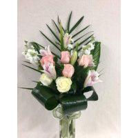 Bouquet de fleurs blanc et rose