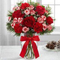 Bouquet blanc et rouge