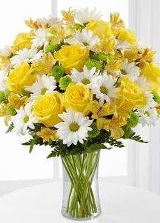 Bouquet de soleil dans un vase