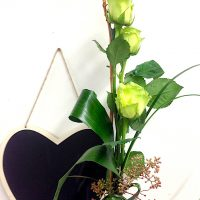 3 roses blanches (vert)