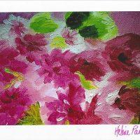 Carte personnalisée « Nuage de fleurs mauves »