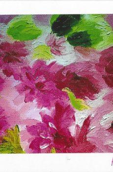 Carte personnalisée «Nuage de fleurs mauves»