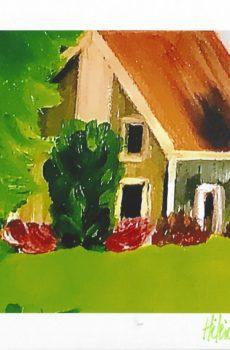 Carte personnalisée «La Maison orange»