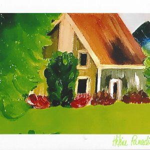 Carte personnalisée « La Maison orange »