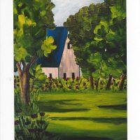 Carte personnalisée « La Maison au toit bleu »