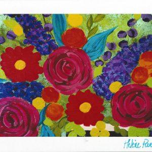 Carte personnalisée « Bouquet de fleurs »
