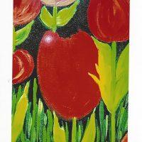 Carte personnalisée « Les tulipes rouges »